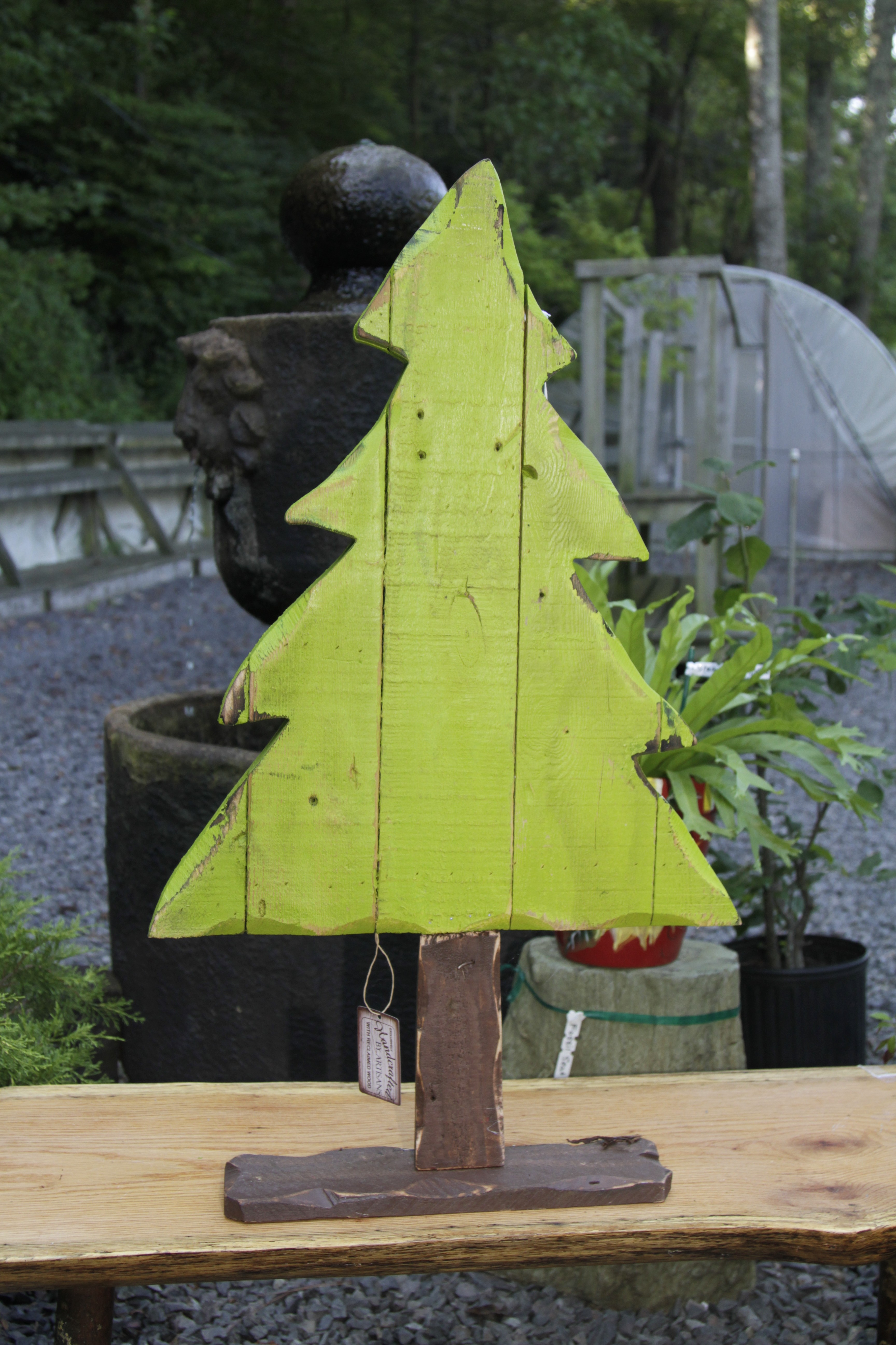 """TP 8359 Wood & tin 35"""" Christmas Tree"""