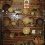 Hand turned wooden bowls by local artist