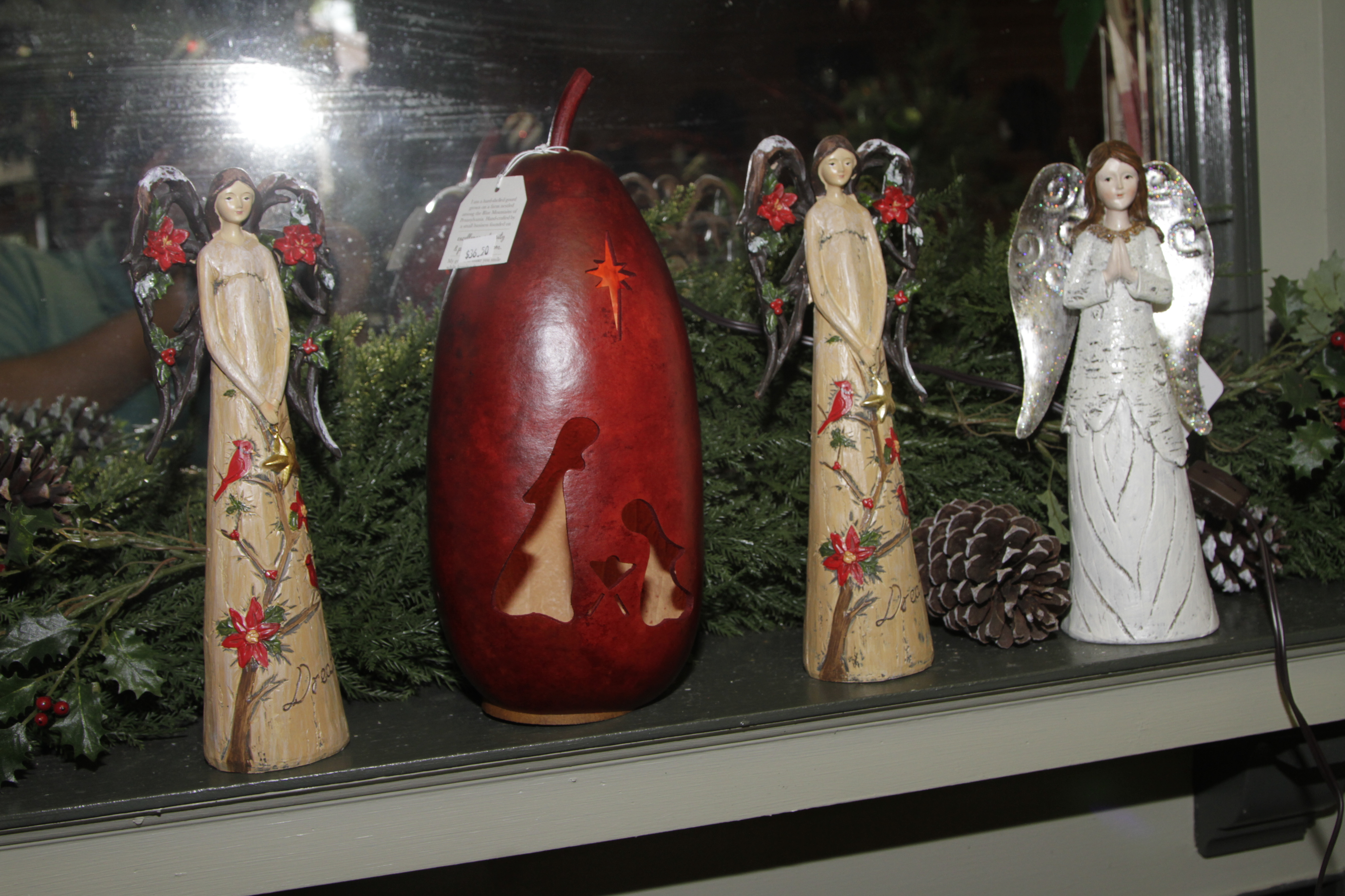 Christmas Gourd and Angels