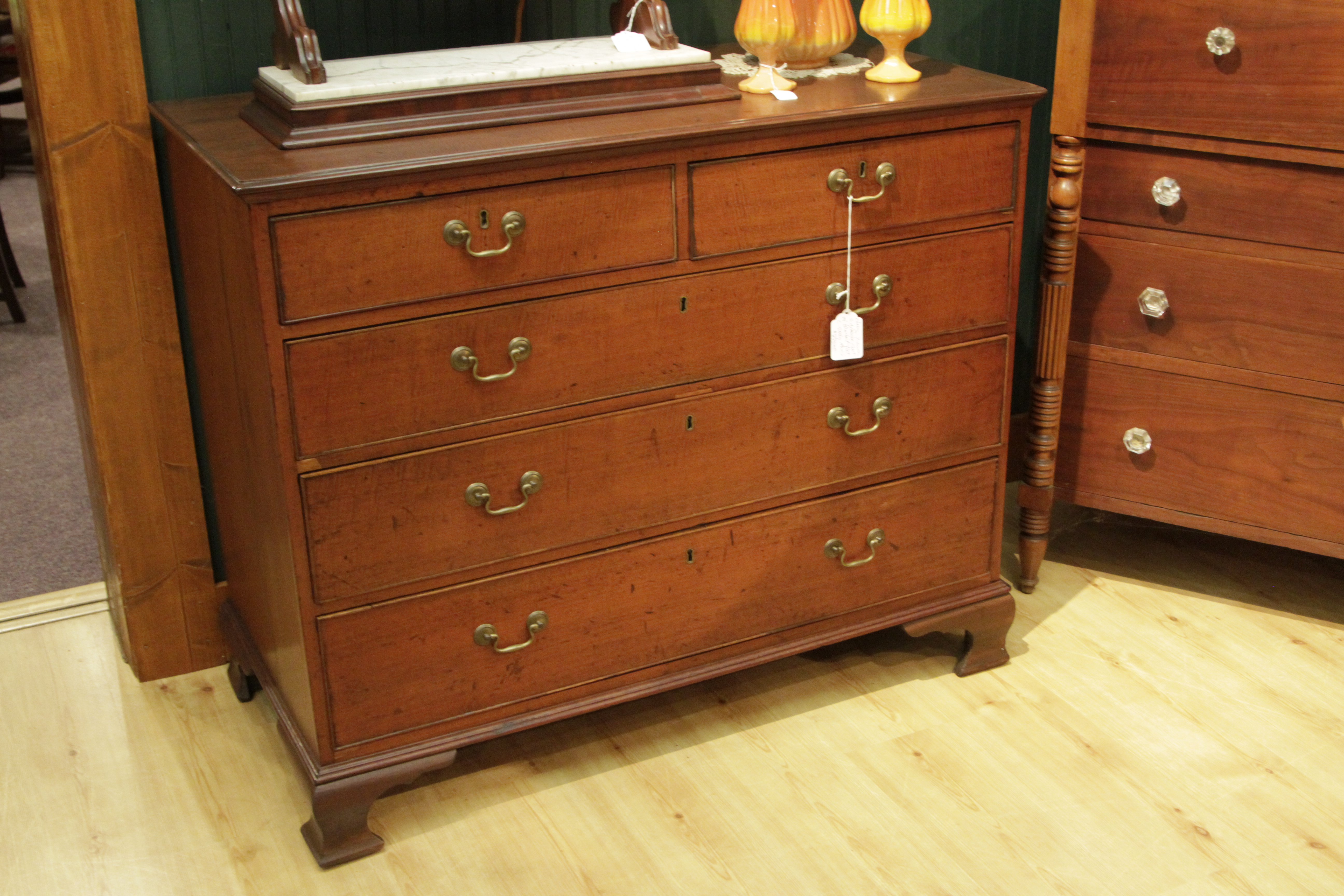 Cherry Two Over Three Chest