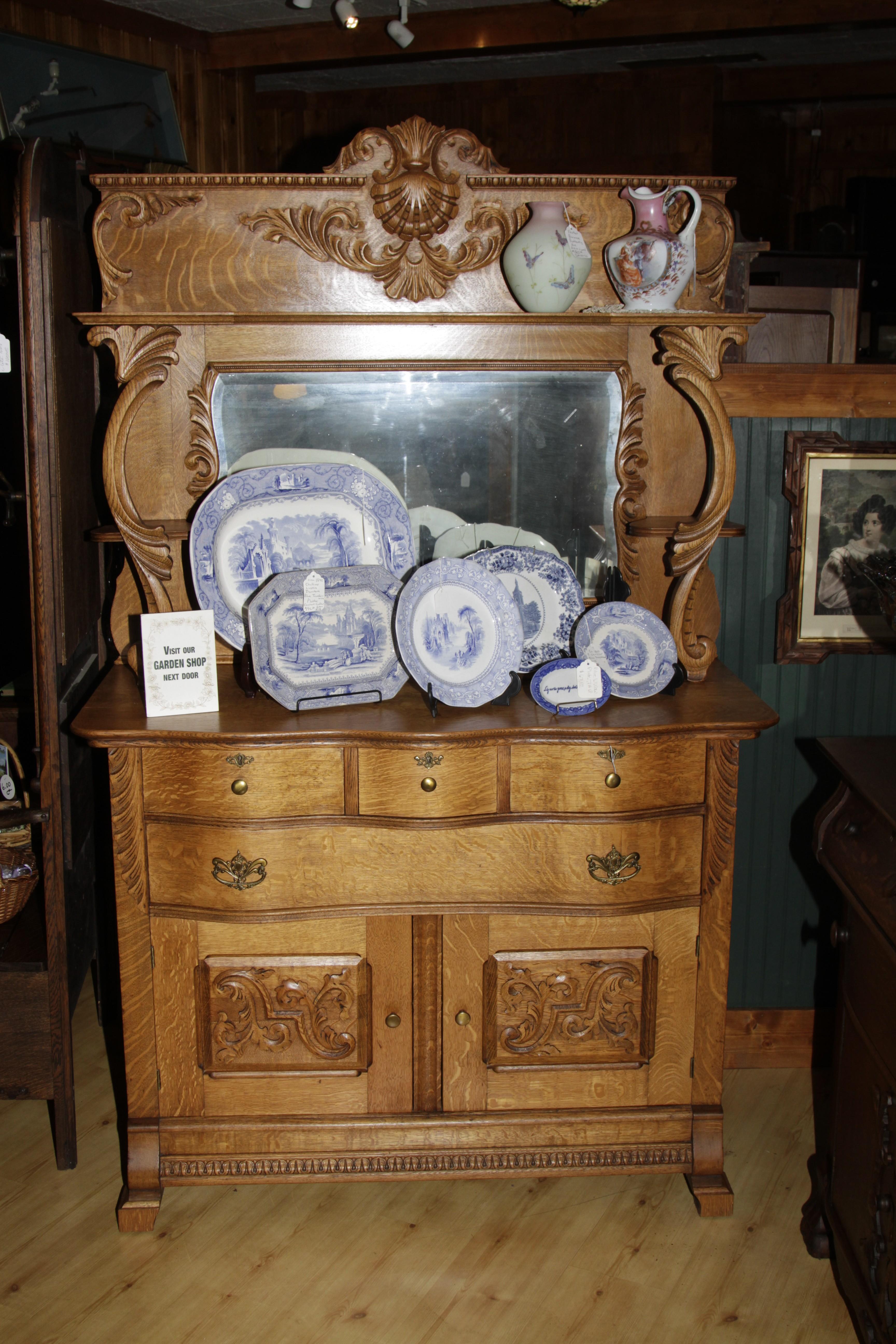 Victorian Quarter Sawn Oak Sideboard