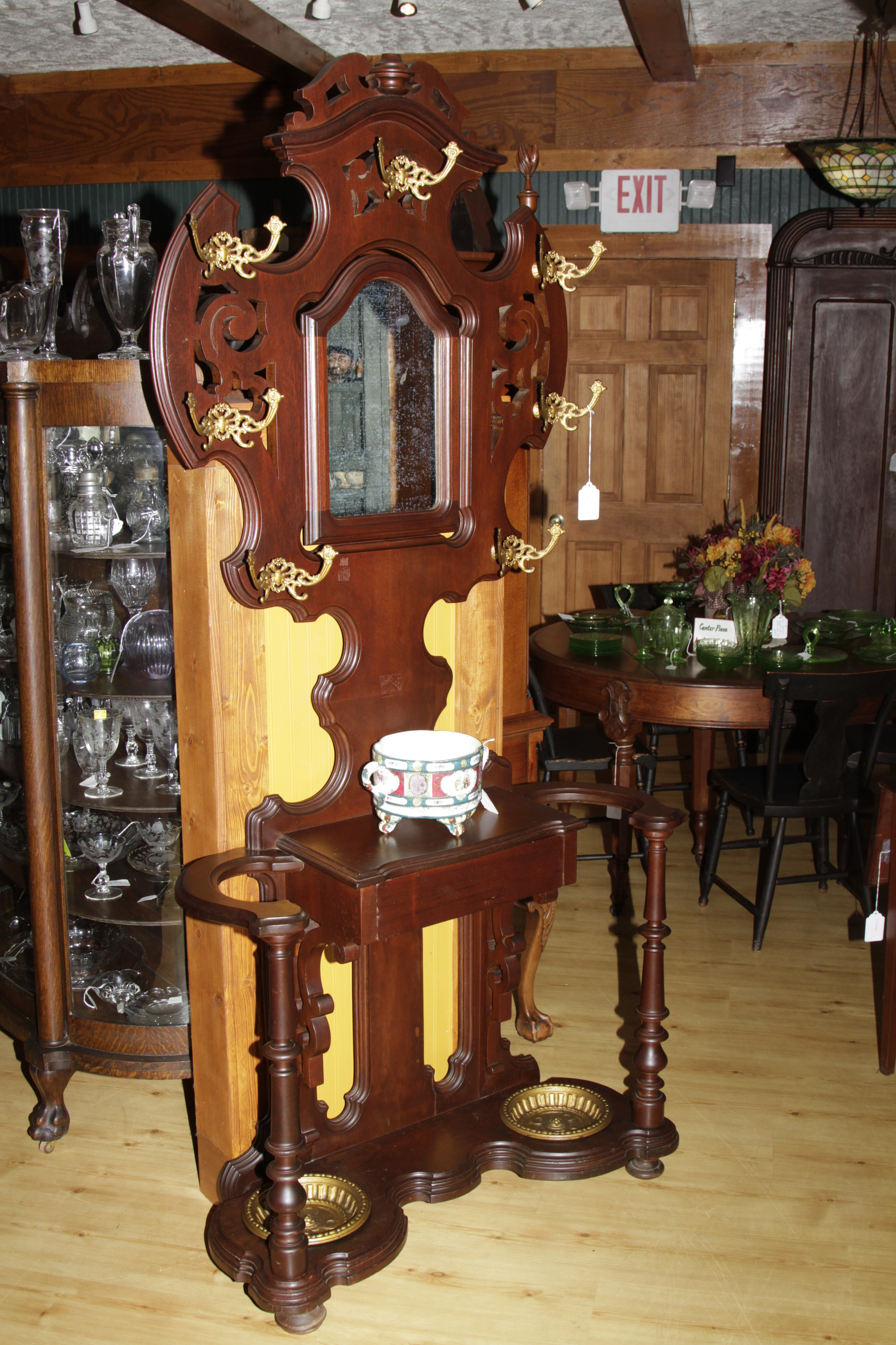 Victorian Mahogany Hall Tree