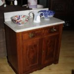 Victorian Walnut Wash Stand
