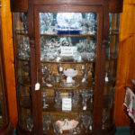 Quarter Sawn Bow front China Cabinet